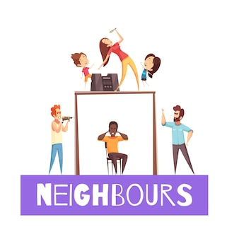 Nachbarn-design-konzept