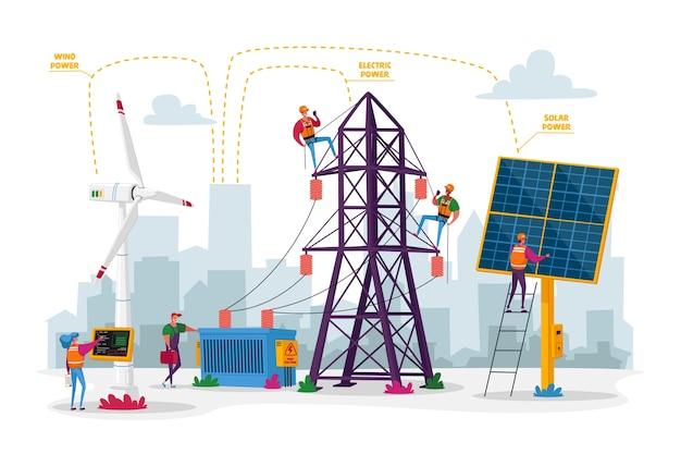 Nachhaltige entwicklung grüner energie