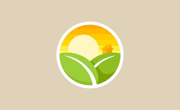 Nachhaltige illustrationsikone der ökologie ökologische