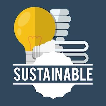 Nachhaltiges glühbirnenlicht ökologisch