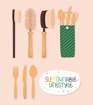 Nachhaltiges lifestyle-besteck