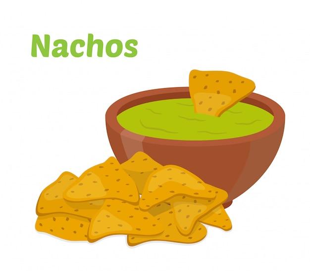 Nachos mexikanische chips
