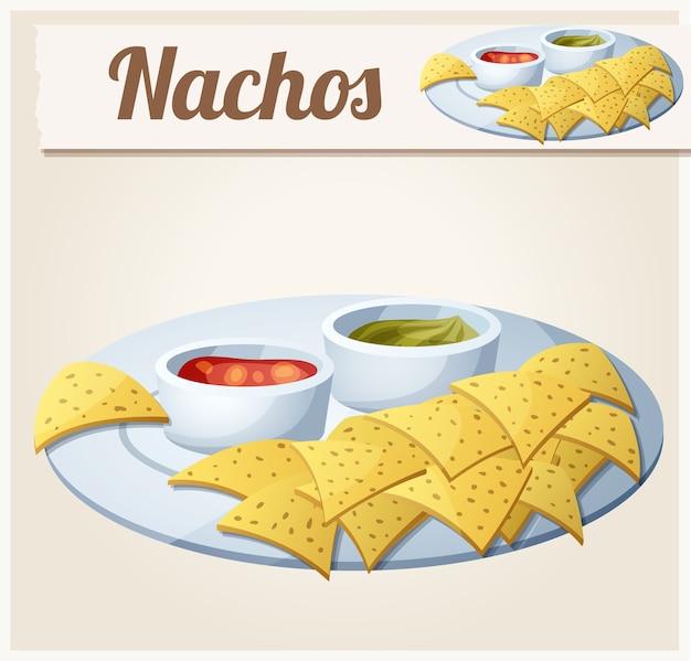 Nachos tortilla chips.