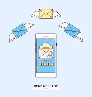 Nachricht mit smartphone empfangen