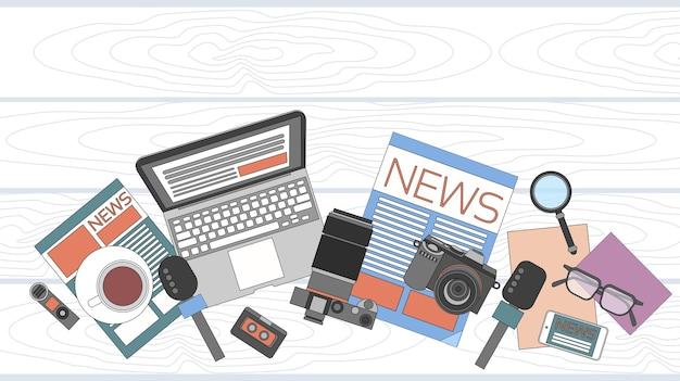 Nachrichten-editor desk-arbeitsbereich
