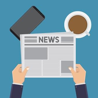 Nachrichten lesen flach