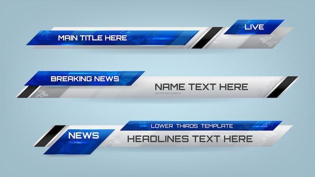 Nachrichten lower thirds banner für das fernsehen