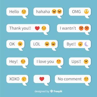 Nachrichten mit emojis-reaktionen