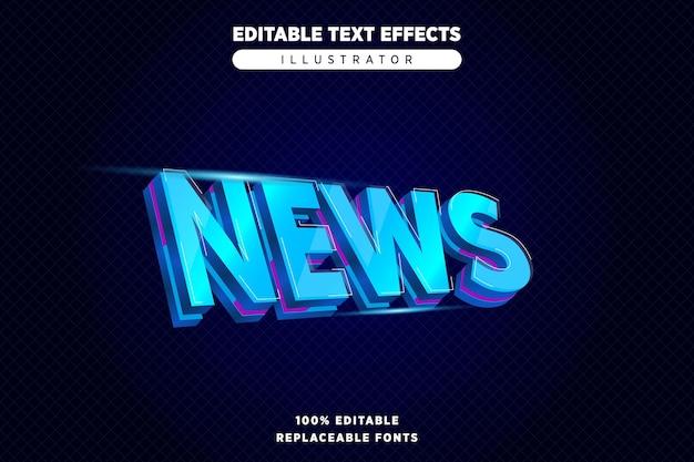 Nachrichten text effet editierbar