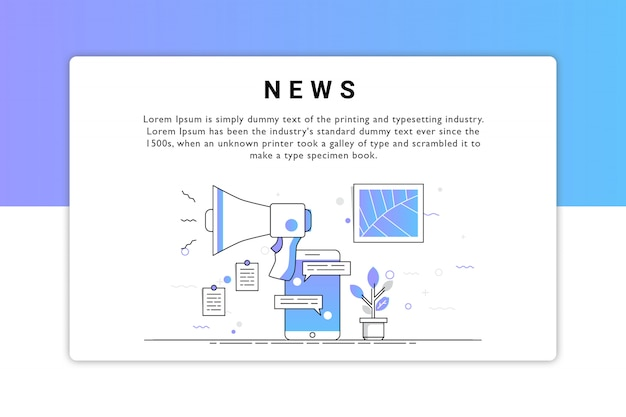 Nachrichten-vektor-design