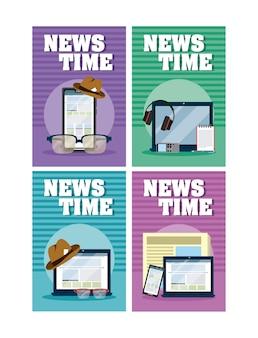 Nachrichten-zeitkarten
