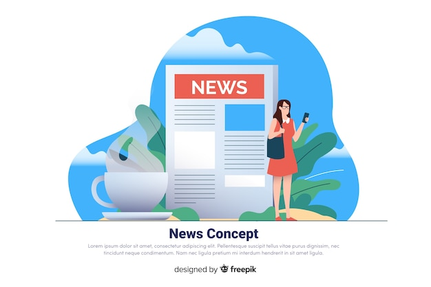 Nachrichtenkonzept für zielseite