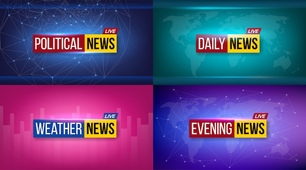 Nachrichtensendung fernsehen täglich, abend hintergrund.