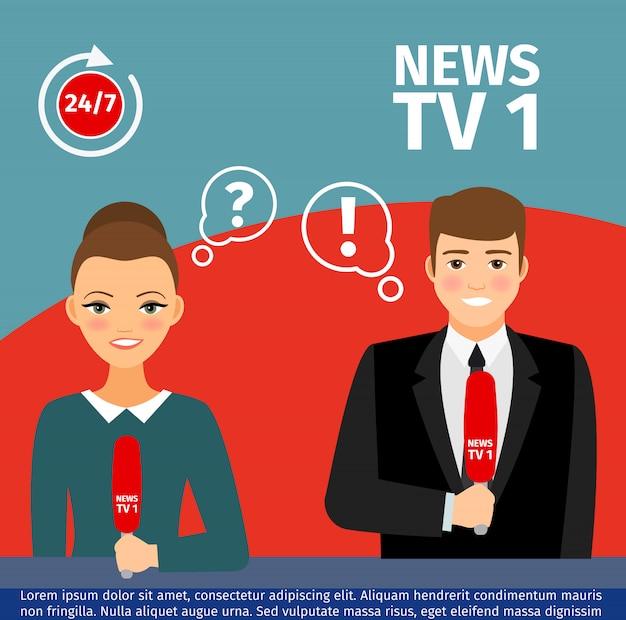 Nachrichtensprecher mann und frau
