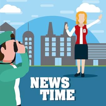Nachrichtenzeit cartoons