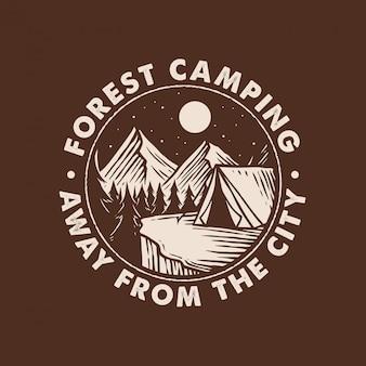 Nacht campe abzeichen logo design