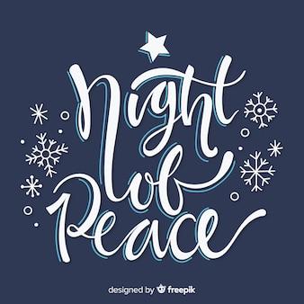 Nacht des friedensweihnachtsbeschriftung