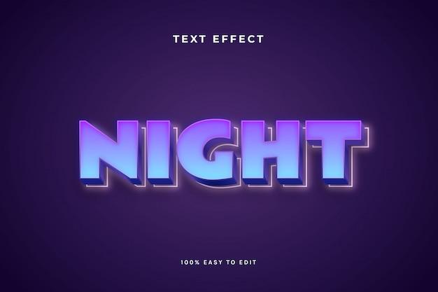 Nacht lila text-effekt