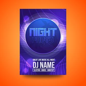 Nacht party flyer design