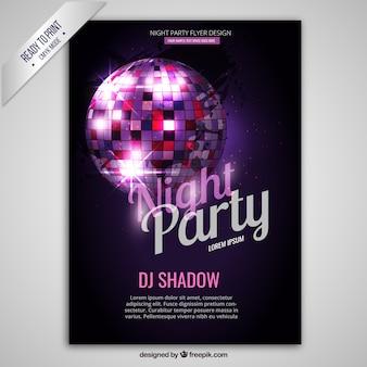 Nacht-party-plakat