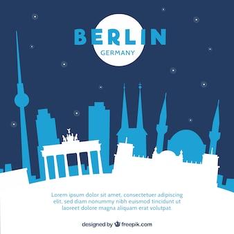 Nacht skyline von berlin