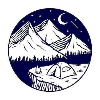 Nachtansicht des berges