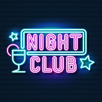 Nachtclub-neonschild