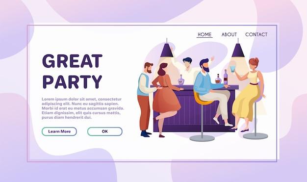 Nachtclub party flache illustration