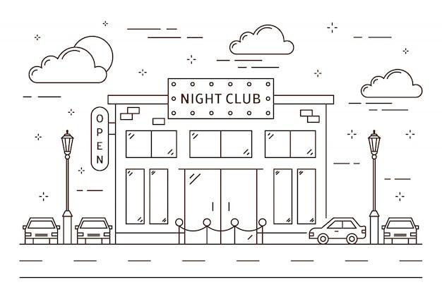 Nachtclubgebäude.