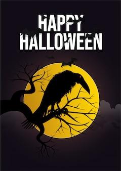 Nachtglücklicher halloween-hintergrund.