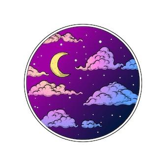 Nachthimmel im kreis