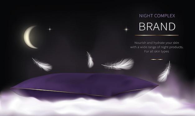 Nachtkosmetik-serie für die gesichtspflege