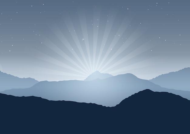 Nachtlandschaftshintergrund