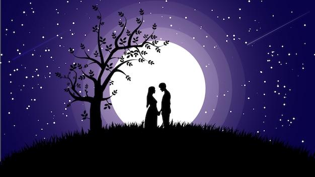 Nachtromantischer hintergrund