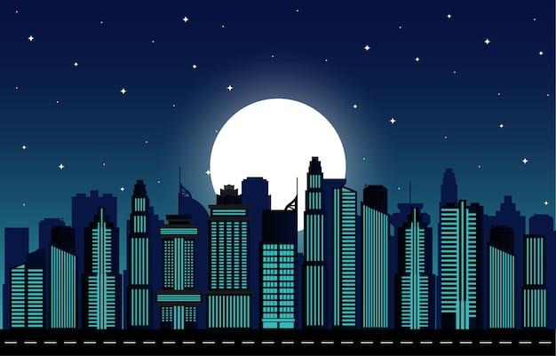 Nachtstadtbild
