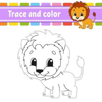 Nachzeichnen und colorieren. malvorlagen für kinder. handschriftpraxis.