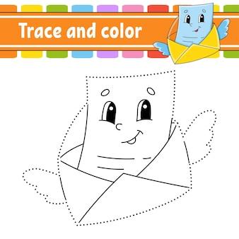 Nachzeichnen und colorieren. malvorlagen für kinder.