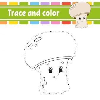 Nachzeichnen und colorieren.