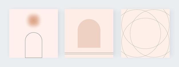 Nackte geometrische hintergründe für social media illustration
