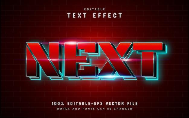 Nächster texteffekt mit rotem farbverlauf