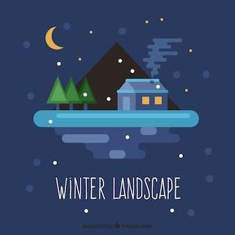 Nächtliche winterlandschaft
