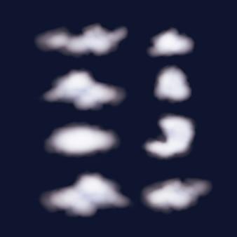 Nächtlicher hintergrundhimmel mit wolken