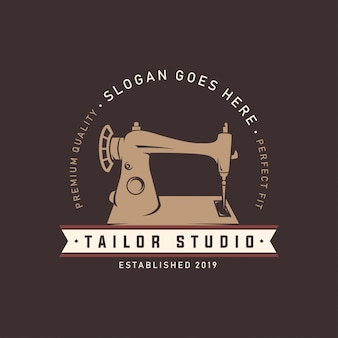 Nähmaschine schneider studio logo template