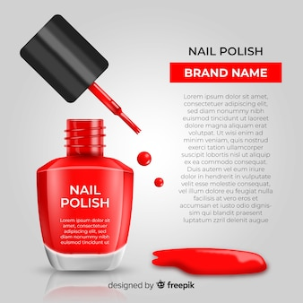 Nagellack-anzeige