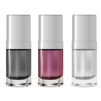 Nagellack flasche. serumbehälter. design
