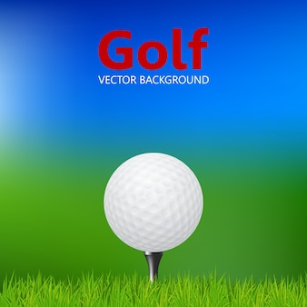 Nahaufnahme des golfballs am abschlag