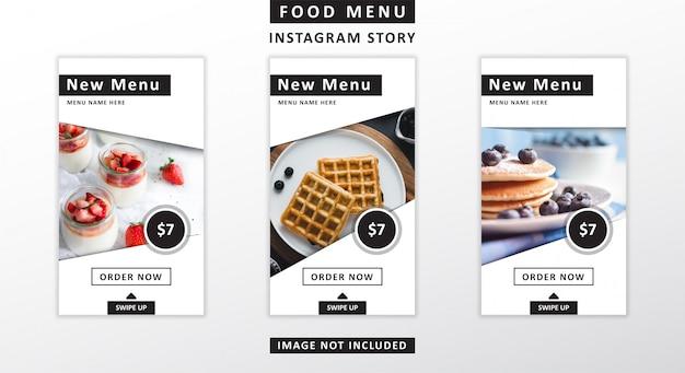 Nahrungsmittelmenü instagram geschichten