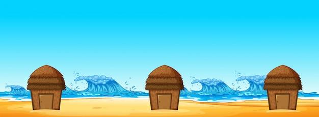 Nahtlos von strandhütte