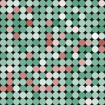 Nahtlose abstrakte geometrische farbige muster mit kreisen, punkten. vektorhintergrund in sanften farben für ihr design