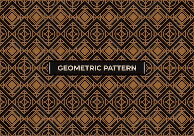 Nahtlose abstrakte geometrische luxusmuster
